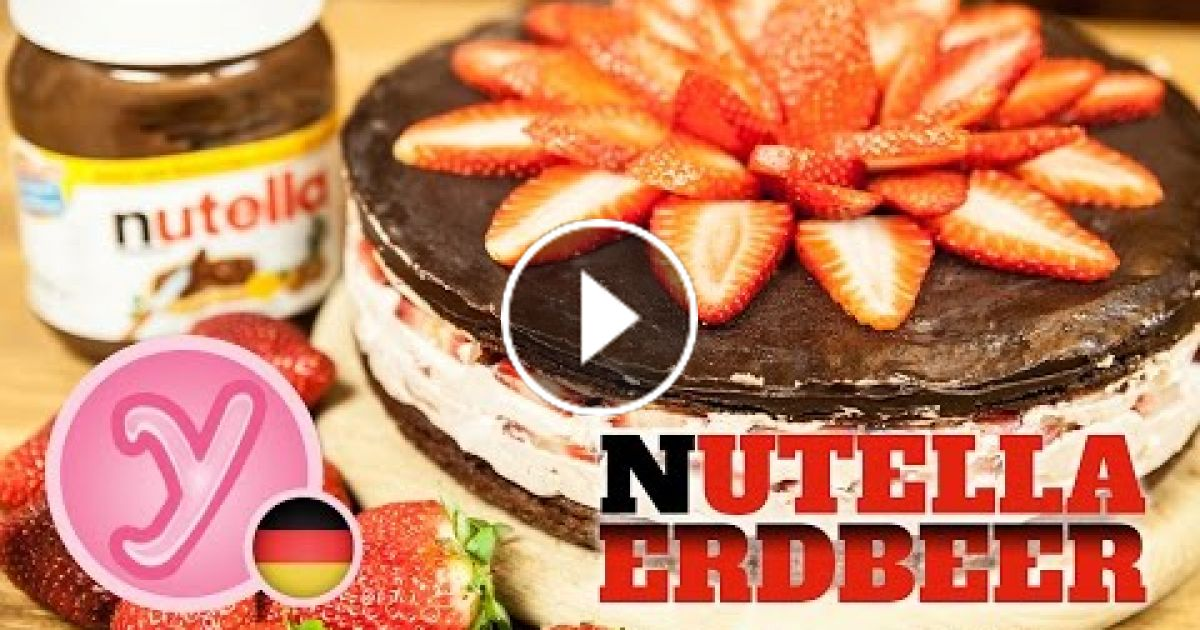 erdbeer nutella torte leckere erdbeeren auf nutella. Black Bedroom Furniture Sets. Home Design Ideas